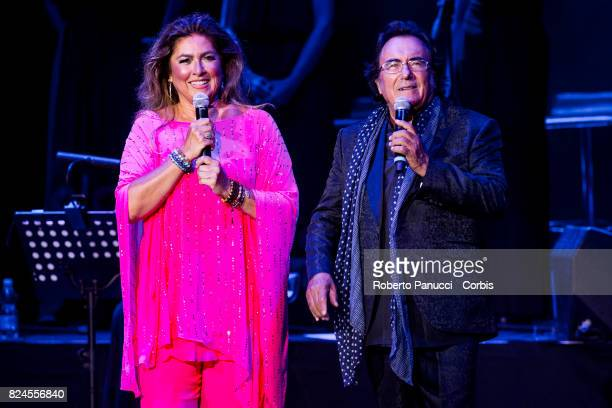 Albano And Romina Power perform on stage on July 28 2017 in Rome Italy