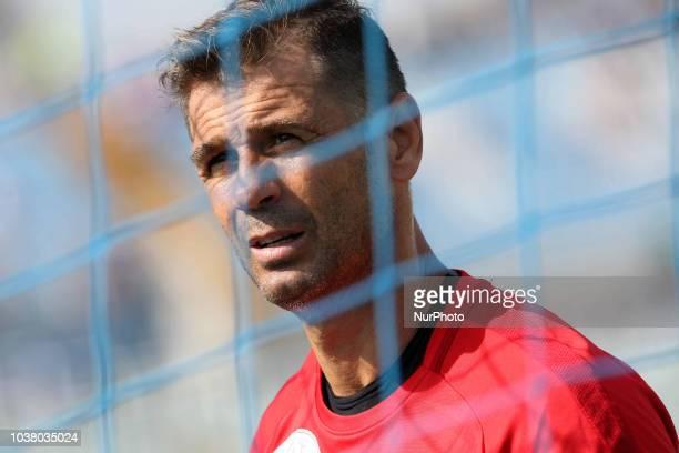 Albano Benjamin Bizzarri of Foggia Calcio 1920 during the Italian Serie B 2018/2019 match between Pescara Calcio 1936 FC and Foggia Calcio 1920 at...