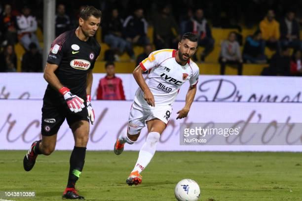Albano Bizzarri AND Massimo Coda during the Italian Serie A football Benevento Calcio v Foggia Calcio at stadium Ciro Vigorito in Benevento on...