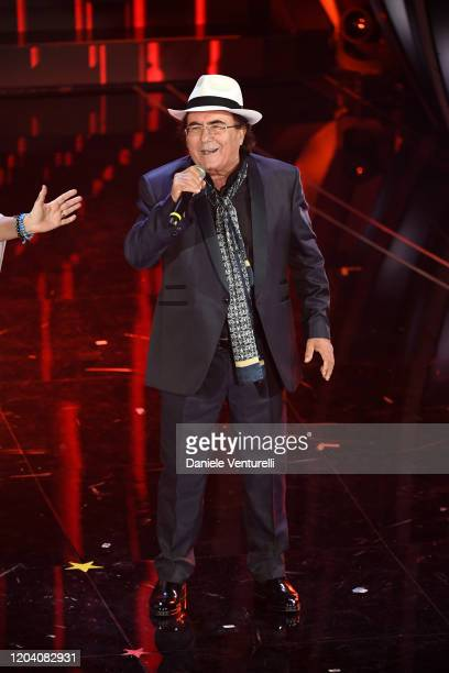 Albano Carrisi attends the 70° Festival di Sanremo at Teatro Ariston on February 04 2020 in Sanremo Italy