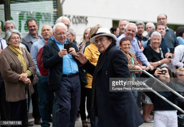 Albano Carrisi attends the funeral for the soprano Montserrat Caballewho died at 85 at Les Corts morgue on October 8 2018 in Barcelona Spain