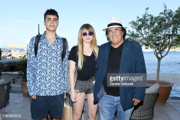 Albano Carrisi Jr Yasmine Carrisi and Al Bano Carrisi attend 2019 Ischia Global Film Music Fest on July 14 2019 in Ischia Italy