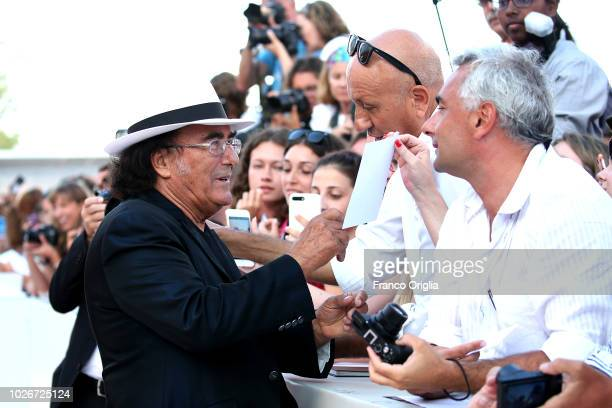 Albano walks the red carpet ahead of the 'Vox Lux' screening during the 75th Venice Film Festival at Sala Grande on September 4 2018 in Venice Italy