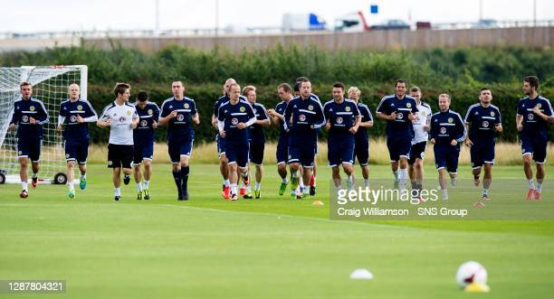 Scotland players are put through their paces