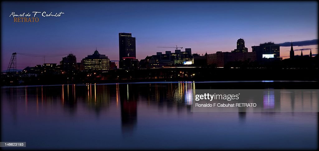 Albany City View From Rensselaer : Stock-Foto