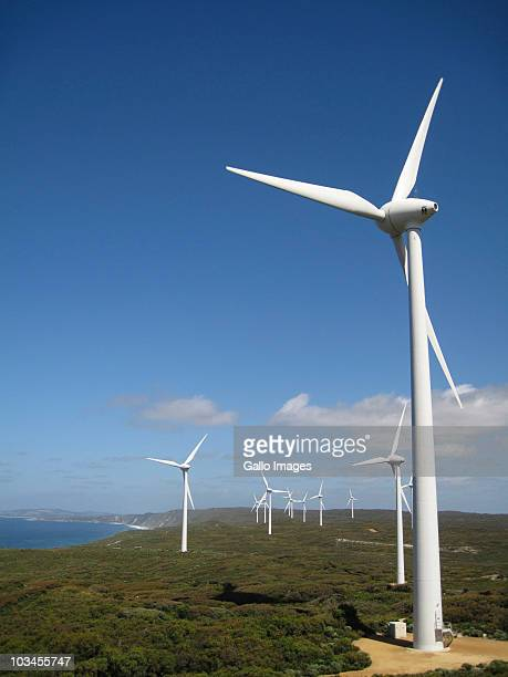 Albany Wind Farm, large scale wind power station, 80 meters above the Southern Ocean, Albany, Western Australia, Australia
