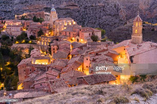 albarracin - medieval village in aragon, spain - unesco stock pictures, royalty-free photos & images