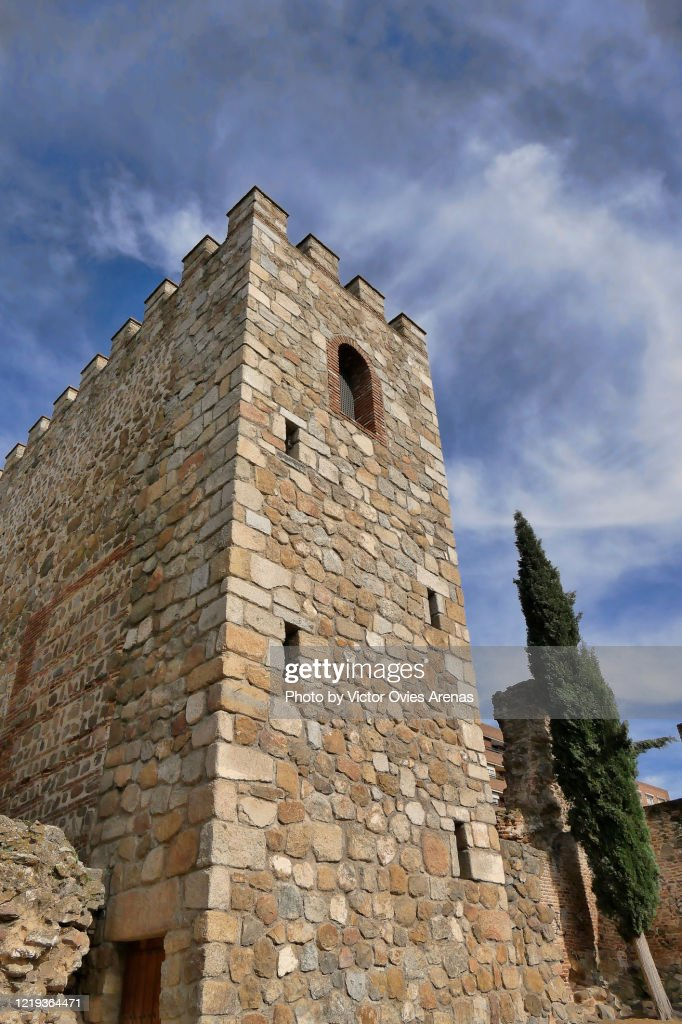 Albarran tower built by Abderramán III in the 9th century in Talavera de la Reina, Toledo, Spain : Foto de stock