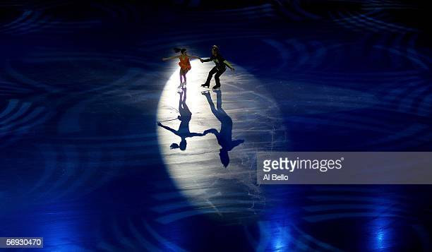 Albena Denkova and Maxim Staviski of Bulgaria perform during the gala exhibition of the figure skating during Day 14 of the Turin 2006 Winter Olympic...