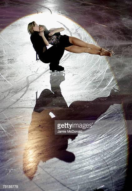 Albena Denkova and Maxim Staviski of Bulgaria skate during the Exhibition Gala during the ISU European Figure Skating Championships 2007 at the...