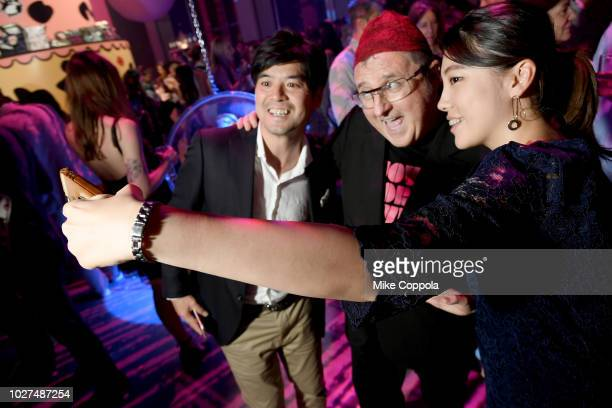 Alber Elbaz and guests attend the Alber Elbaz X LeSportsac New York Fashion Week Party at Gallery I at Spring Studios on September 5 2018 in New York...