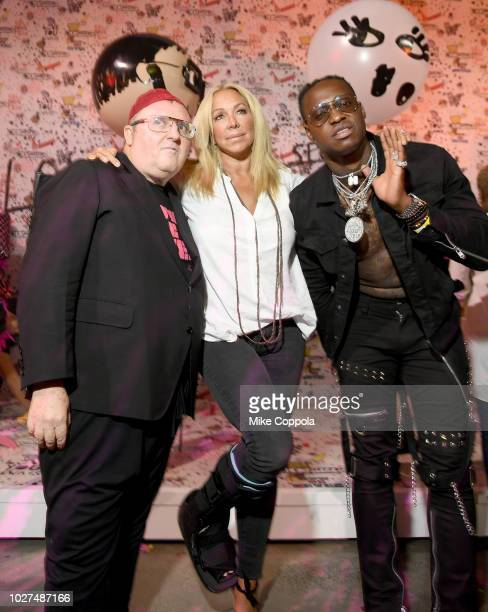 Alber Elbaz Anna Rothschild and guest attend the Alber Elbaz X LeSportsac New York Fashion Week Party at Gallery I at Spring Studios on September 5...