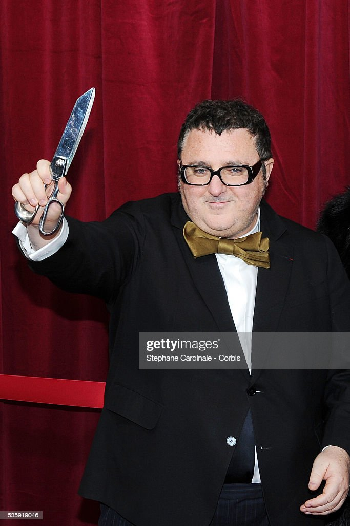Alber Elbaz attends Christmas Illuminations Launch at the Printemps Store in Paris.