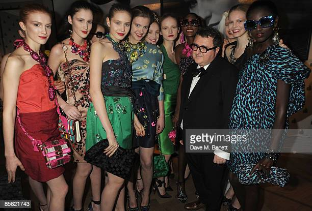 Alber Elbaz attends the launch party of the French Fashion House 'Lanvin', at Lanvin on March 26, 2009 in London, England.