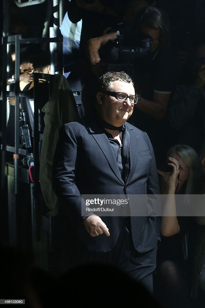 Alber Elbaz walks the runway during the Lanvin show as part of the Paris Fashion Week Womenswear Spring/Summer 2015 on September 25, 2014 in Paris, France.