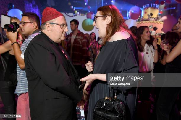 Alber Elbez and Glenda Bailey attend the Alber Elbaz X LeSportsac New York Fashion Week Party at Gallery I at Spring Studios on September 5 2018 in...