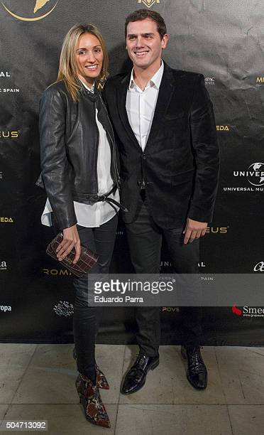 Alber Rivera and girlfriend Beatriz Tajuelo attend Miguel Poveda's concert at Compac theatre on January 12 2016 in Madrid Spain