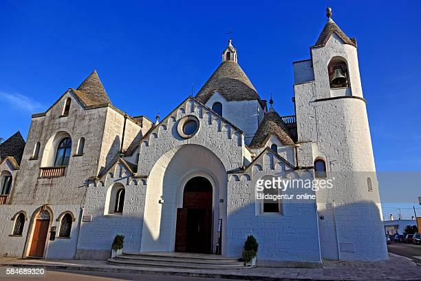Alberobello church in Trullo shape Chiesa di Sant'Antonio Puglia Italy