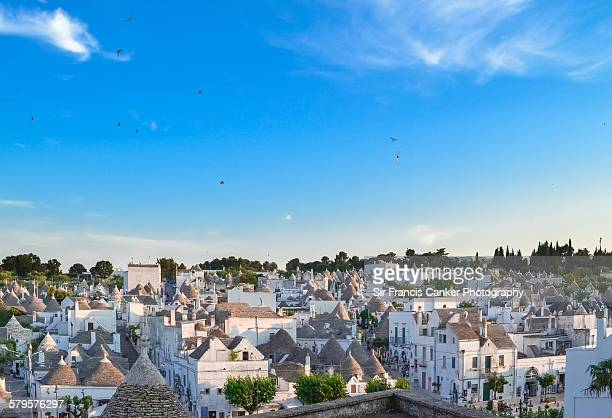 Alberobello cityscape from above, Apulia, Italy