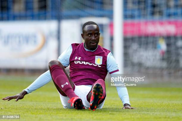 Albert Adomah of Aston Villa during the PreSeason Friendly between AFC Telford United and Aston Villa at New Bucks Head Stadium on July 12 2017 in...