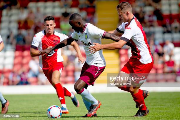 Albert Adomah of Aston Villa during the PreSeason Friendly match between Kidderminster Harriers and Aston Villa at the Aggborough Stadium on July 14...
