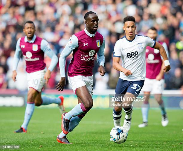 Albert Adomah of Aston Villa during the Sky Bet Championship match between Preston North End and Aston Villa at Deepdale on October 01 2016 in...