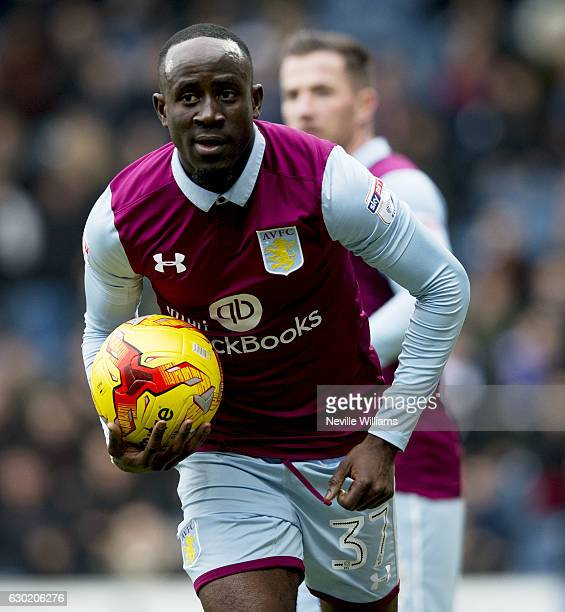 Albert Adomah of Aston Villa during the Sky Bet Championship match between Queens Park Rangers and Aston Villa at Loftus Road on December 18 2016 in...