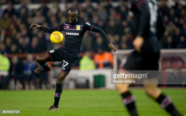 Albert Adomah of Aston Villa during the Sky Bet Championship match between Nottingham Forest and Aston Villa at the City Ground on January 13 2018 in...