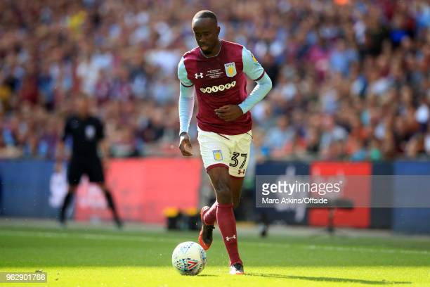 Albert Adomah of Aston Villa during the Sky Bet Championship Play Off Final between Aston Villa and Fulham at Wembley Stadium on May 26 2018 in...
