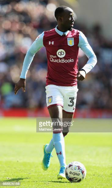 Albert Adomah of Aston Villa in action during the Sky Bet Championship match between Aston Villa and Reading at Villa Park on April 15 2017 in...