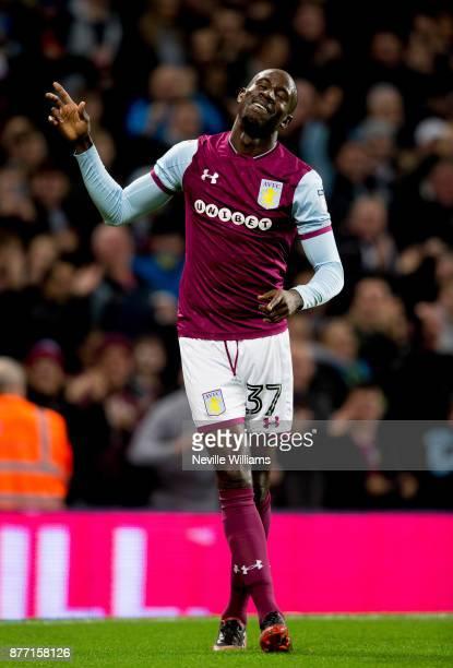 Albert Adomah of Aston Villa scores for Aston Villa during the Sky Bet Championship match between Aston Villa and Sunderland at Villa Park on...