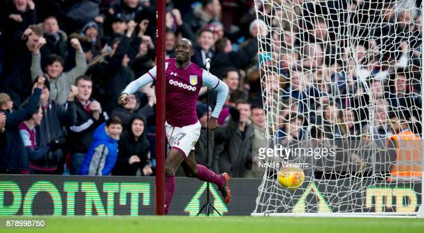 Albert Adomah of Aston Villa scores for Aston Villa during the Sky Bet Championship match between Aston Villa and Ipswich Town at Villa Park on...