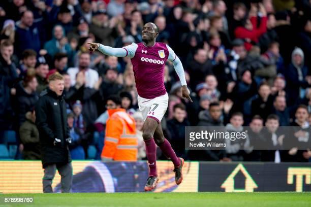 Albert Adomah of Aston Villa scores for Aston Villa during the Sky Bet Championship match between Aston Villa and Ipswich Town at Villa Park on...