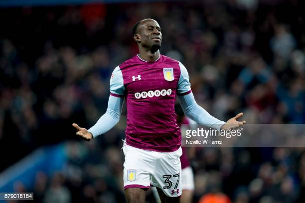 Albert Adomah of Aston Villa scores his second goal for Aston Villa during the Sky Bet Championship match between Aston Villa and Ipswich Town at...