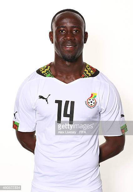 Albert Adomah of Ghana poses during the official FIFA World Cup 2014 portrait session on June 11 2014 in Maceio Brazil