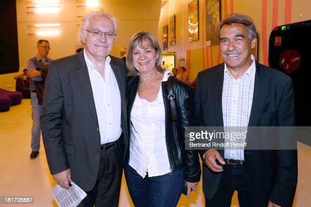 Albert Albou with Father and Mother of Laurent Gerra Nanou et Nicole Gerra attend 'L'Escalier De Fer' with Laurent Gerra Private Screening in Paris...