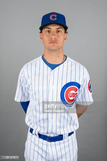 Albert Almora Jr #5 of the Chicago Cubs poses during Photo Day on Wednesday February 20 2019 at Sloan Park in Mesa Arizona