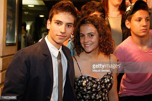 Albert Baro and Marina Comas attend 'Nens Salvatges' Ninos Salvajes' Premiere film on May 24 2012 in Barcelona Spain