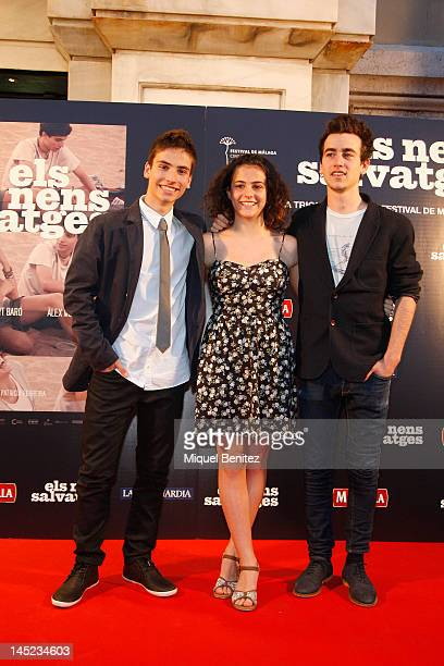 Albert Baro Marina Comas and Alex Moner attend 'Nens Salvatges' Ninos Salvajes' Premiere film on May 24 2012 in Barcelona Spain
