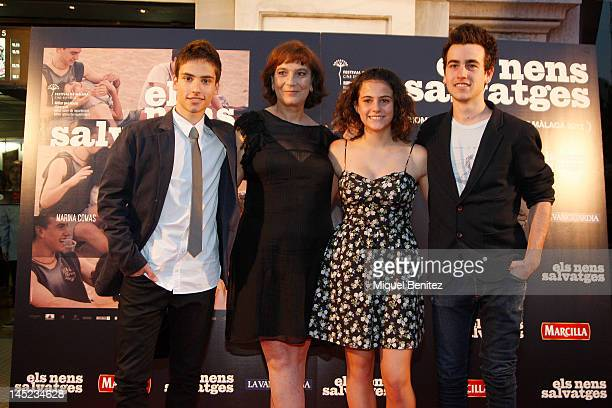 Albert Baro Patricia Ferreira Marina Comas and Alex Moner attend 'Nens Salvatges' Ninos Salvajes' Premiere film on May 24 2012 in Barcelona Spain