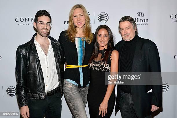 Albert Beher Melissa Johnson Angela Bernhardt Thomas and Geoffrey Gilmore attend the TFF Awards Night during the 2014 Tribeca Film Festival at Conrad...