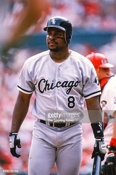 Albert Belle of the Chicago White Sox during the game against the St Louis Cardinals on September 2 1997 at Busch Stadium in St Louis Missouri