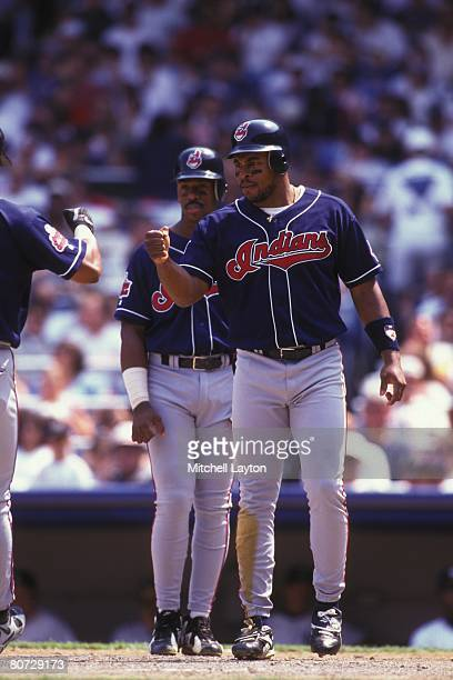 Albert Belle of the Cleveland Indians during a baseball game against the Baltimore Orioles on June 1 1996 at Camden Yards in Baltimore Maryland