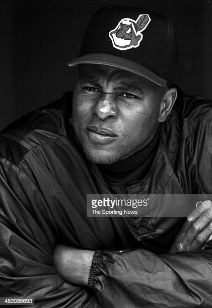 Albert Belle of the Cleveland Indians looks on circa 1990s