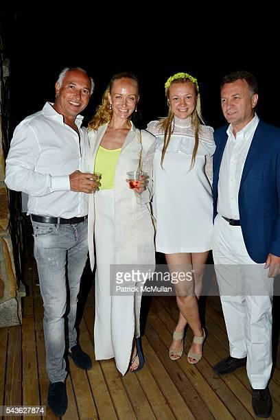 Albert Benalloul Anastasia Vickina Alisa Roever and Milos Duncko attend The White Party Janna Bullock Eugenia Bullock and Frederick Anderson...