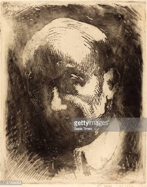 Albert Besnard Gabriele D'Annunzio French 1849 1934 etching in black with plate tone on laid paper
