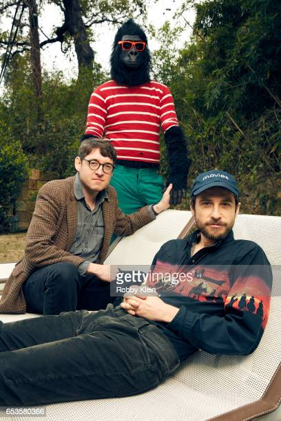 Albert Birney and Kentucker Audley with Sylvio Bernardi of 'Sylvio' pose for a portrait at The Wrap and Getty Images SxSW Portrait Studio on March...