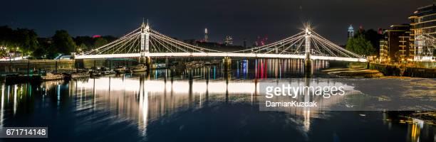 albert bridge, london - battersea stock pictures, royalty-free photos & images