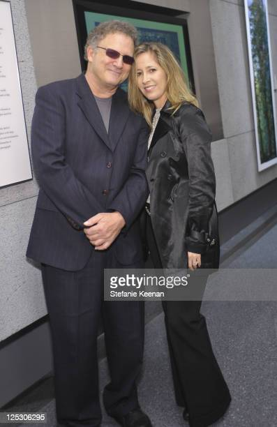 Albert Brooks and Kimberly Brooks attend the opening Of Extreme Exposure Exhibit at Annenberg Space For Photography on October 22 2010 in Century...