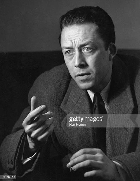 Albert Camus the writer who was born in Algeria was interviewed in London when he came for the first night of 'Caligula' at the Embassy Theatre...
